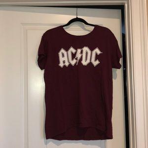 Tops - ac/dc Burgundy t-shirt